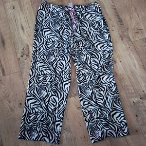 [Adonna] Zebra Print Fleece Pajama Pants